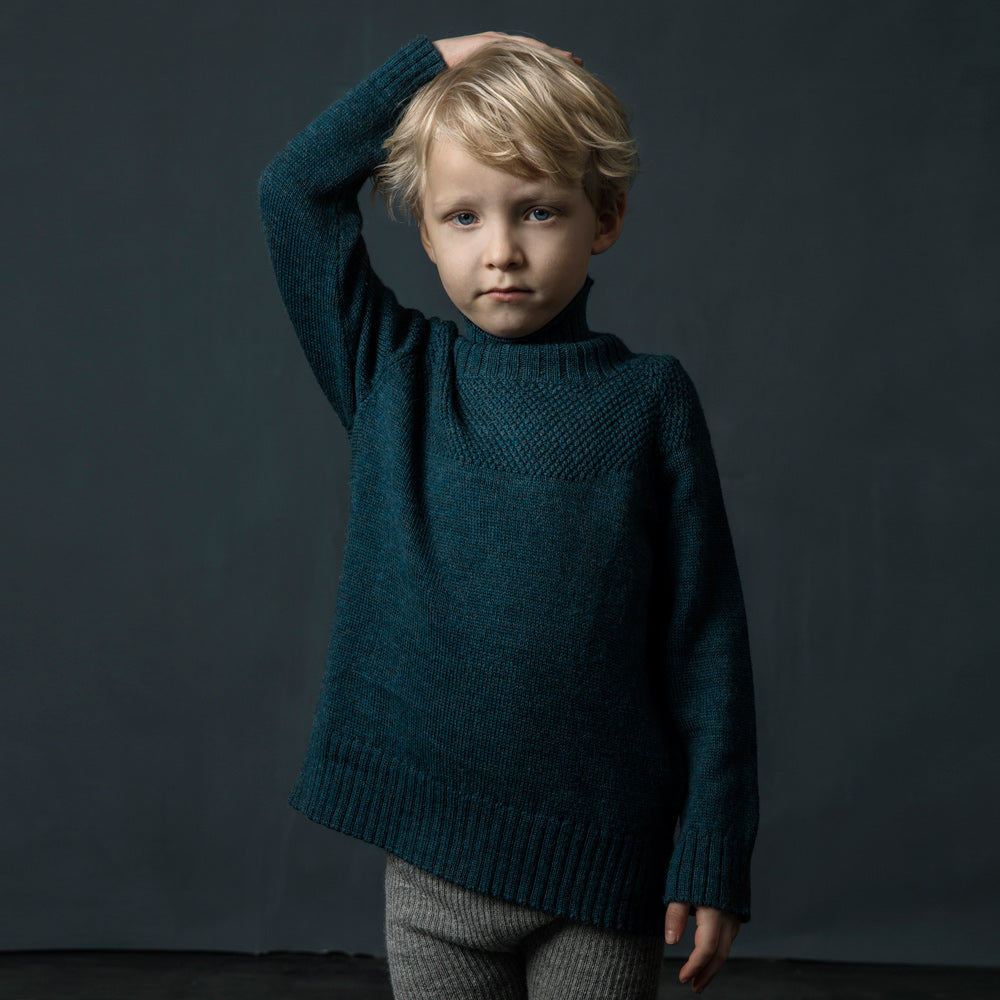 As We Grow, Sailor Sweater in 100% alpaca - Woollykins, Australia