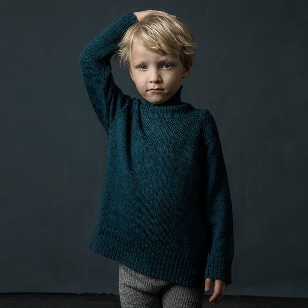 Sailor Sweater in 100% alpaca (18m-12y)