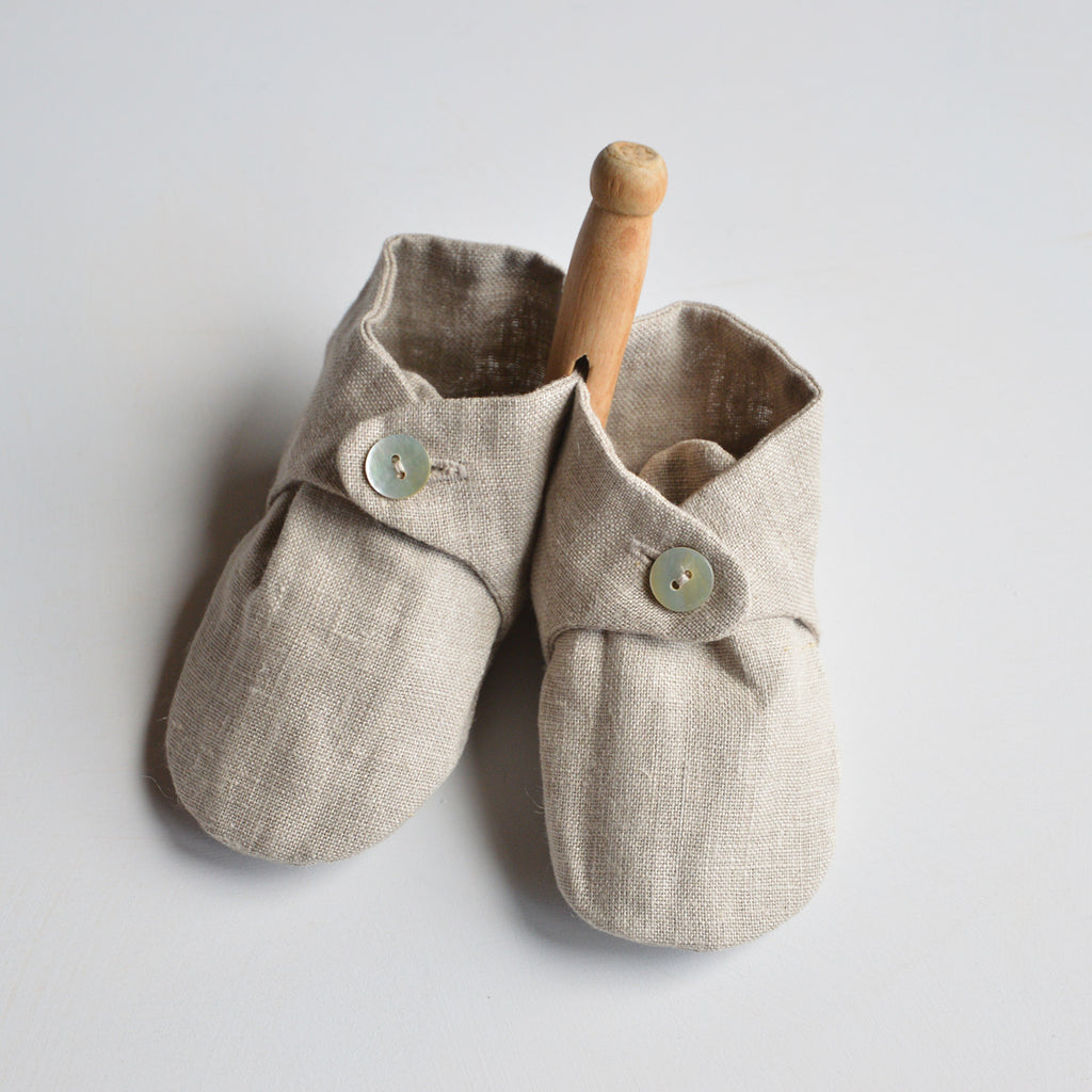 Linen Baby Slippers *Last One!