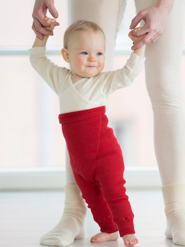 Organic Wool Nappy Pants - Longies (0-3y)