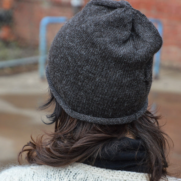 Adults Jersey Alpaca Beanie - Light Brown