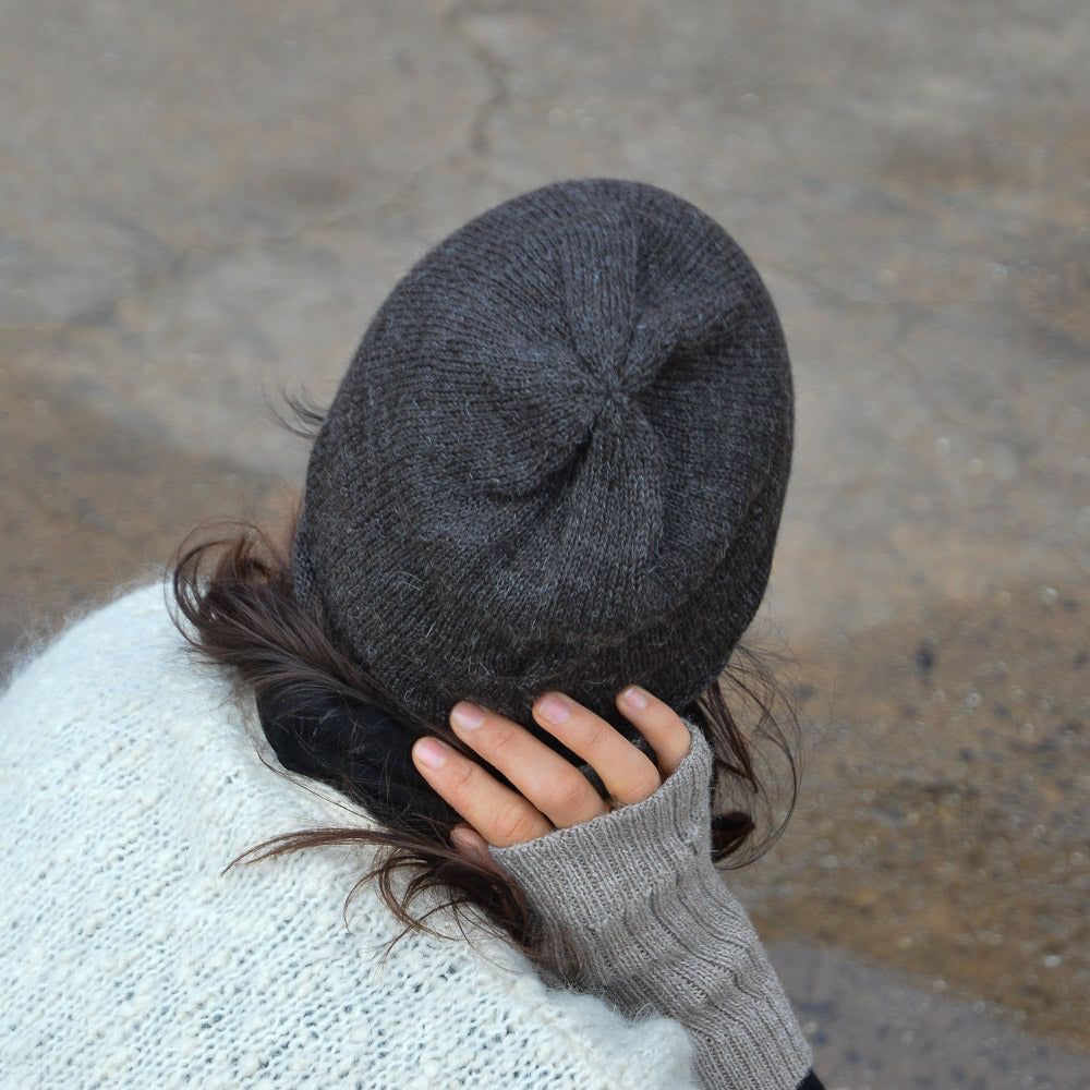 Adults Jersey Alpaca Beanie (Grey) *Last Ones