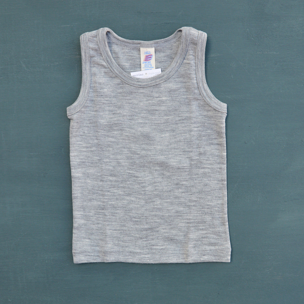 Child's Sleeveless Vest in Wool/Silk in Grey (1-12y) NEW!