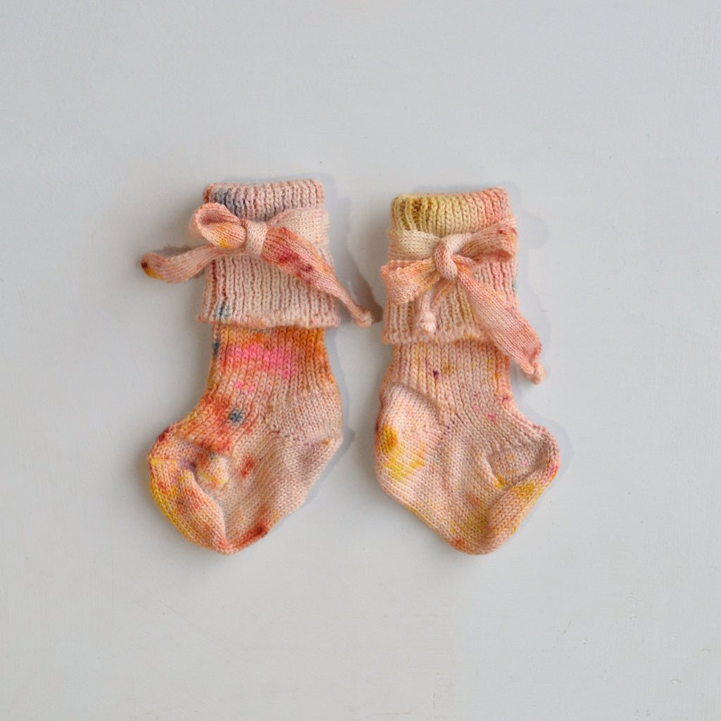 Newborn Plant Dyed Wool Baby Socks (0-3m) *Limited Edition