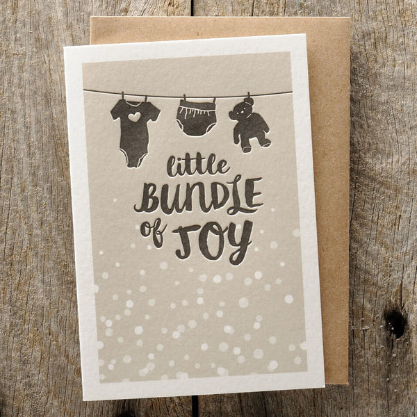 Letterpress Greeting Card - Little Bundle of Joy