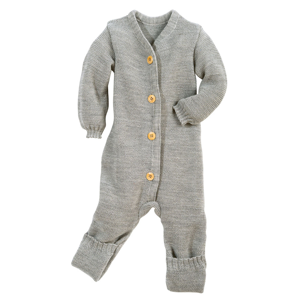 Knitted Overalls in Organic Merino Wool (0-6m) in 4 colours!