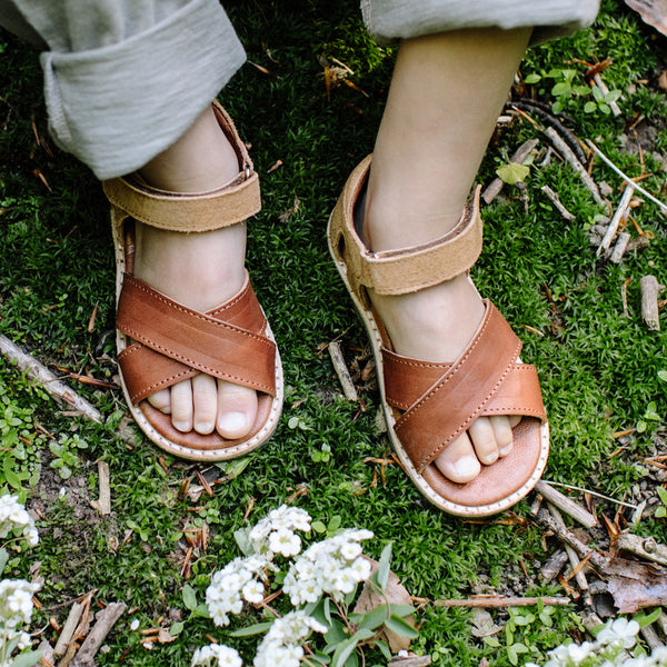 Unisex Cross Over Sandals - Bourbon (25-34)