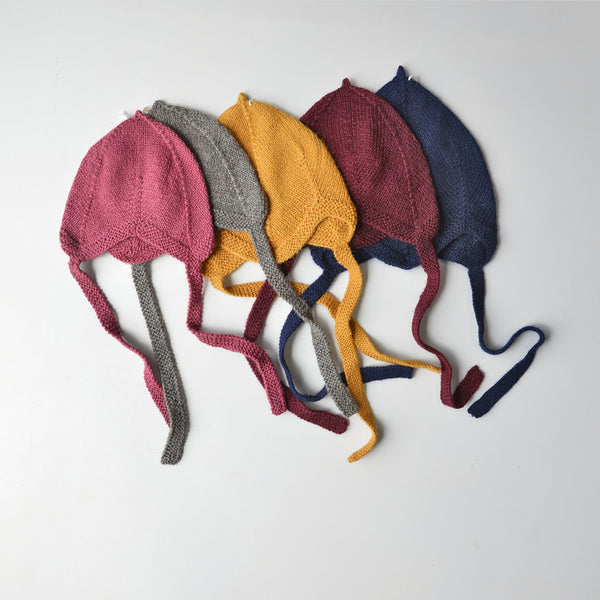 Pilot Hat in Baby Alpaca Colours - Mustard (0-2y) *Last Ones