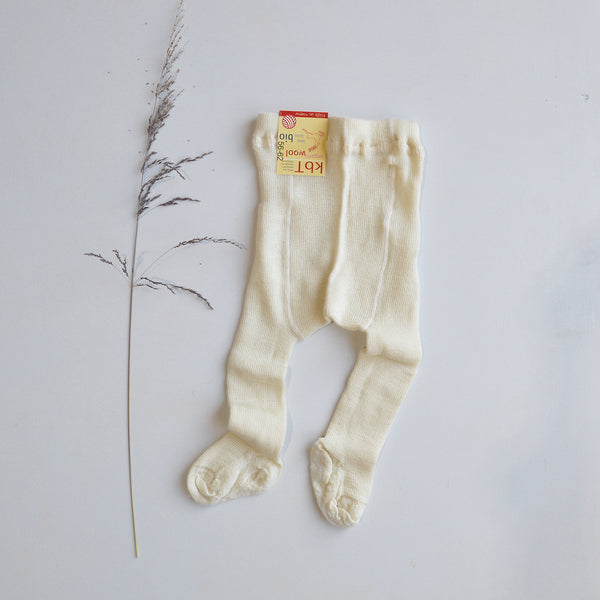 100% Organic Wool Tights with Feet (0-5yrs)