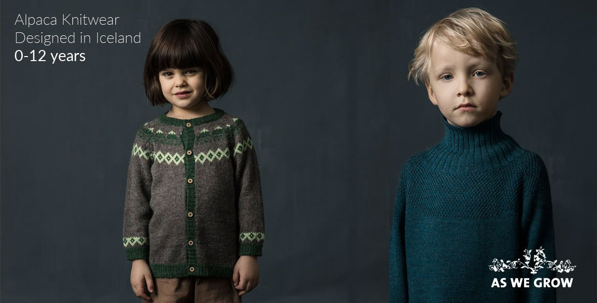 Organic Merino Wool and Alpaca Knitwear for Children by Disana, As We Grow, FUB, My Alpaca and more.