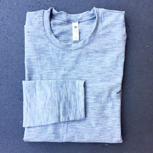 Merino Skins Long Sleeve - Grey Marle