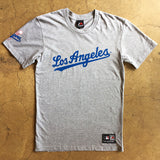 Official LA Dodgers Script T Shirt - Grey Marl