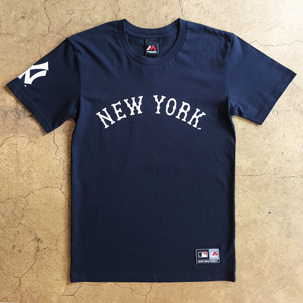 Official New York Yankees Script T Shirt - Navy