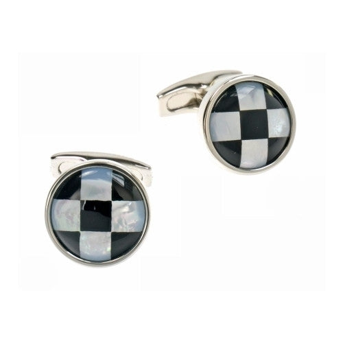 Chequer Circle Cufflinks