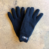 Knitted Gloves w Thinsulate - Black