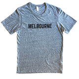 Melbourne Print T Shirt - Grey Marl