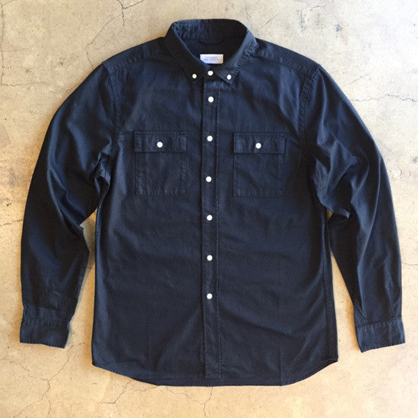 Angus Broken Twill Shirt - Black