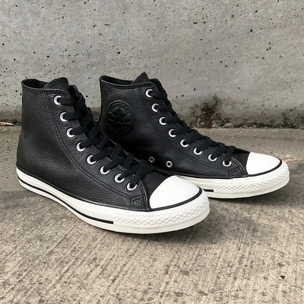 Chuck Taylor All Star Tumbled Leather High Top Black