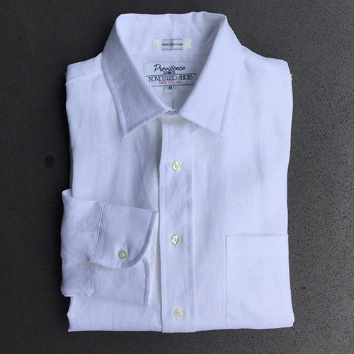 Greenport Linen Shirt - White