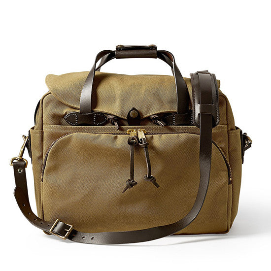 Padded Computer Bag - Tan