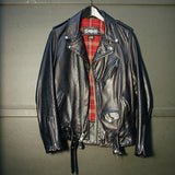 626VN Perfecto Vintaged Fitted Cowhide Leather Motorcycle Jacket - Black