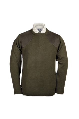 Lightweight Crew Neck Shooting Jumper with patches