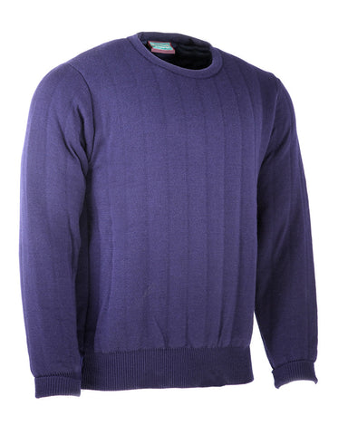 Heavyweight Crew Neck Country Jumper without Patches in Navy
