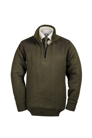 Heavyweight Zip Neck Shooting Jumper with patches