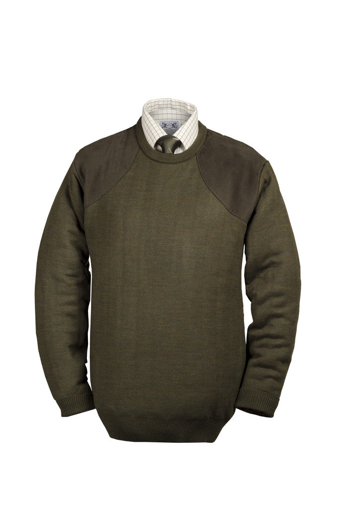 Heavyweight Crew Neck Shooting Jumper with patches