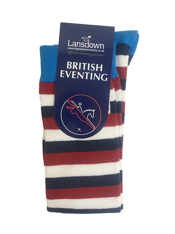 British Eventing Stripe Knee Socks
