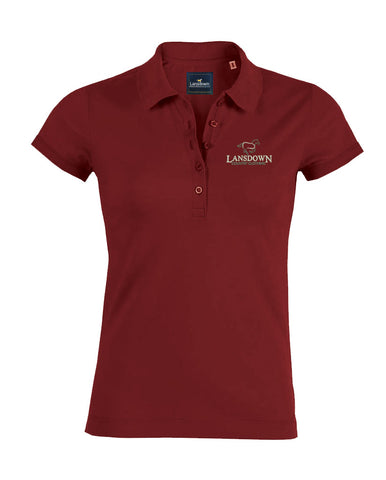Essential Organic Short Sleeve Polo Shirt - Burgundy