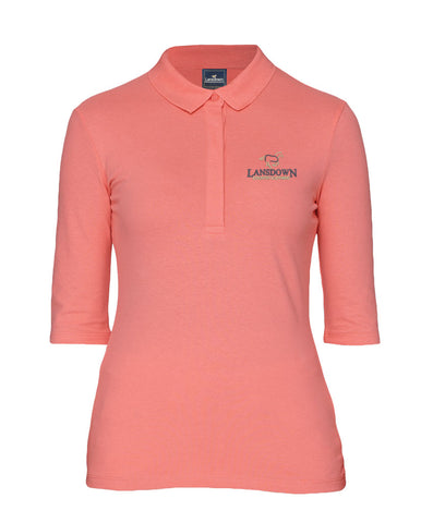 Essential Organic 1/2 Sleeve Polo Shirt - Flamingo