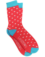 Lansdown Hearts Ankle Socks - Pink Passion/Aqua/White