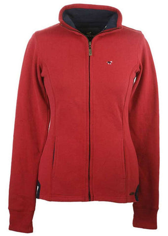 Hedley Full Zip Sweat in Chilli Red