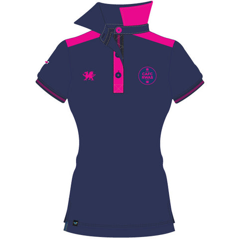 Royal Welsh Women's Polo Shirt - Blue/Pink