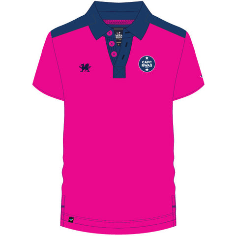 Royal Welsh Kid's Polo Shirt - Pink/Blue