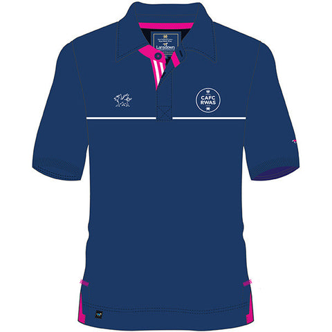 Royal Welsh Men's Rugby Shirt - Blue/Pink