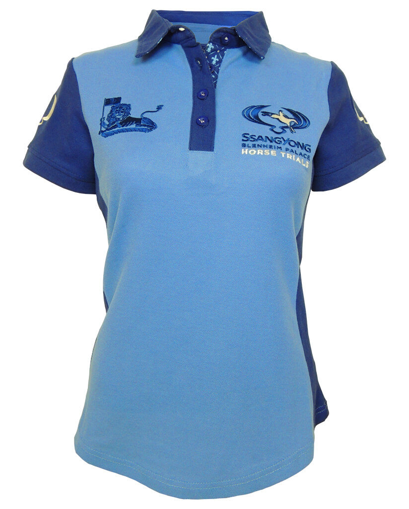 45f00d7abea884 SsangYong Blenheim Palace Women s Polo Shirt - Blue – Lansdown Country