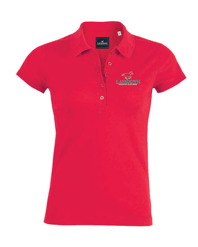 Essential Organic Short Sleeve Polo Shirt - Raspberry