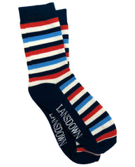 Lansdown Stripey Ankle Socks - Navy/Blue/White/Red