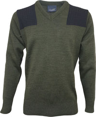 Climayarn V Neck Shooting Jumper & Nomex Patches