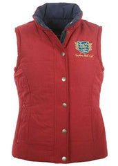 Yacht Club Reversible Gilet in Navy & Red