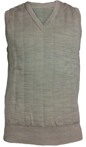 Lansdown Quiltknit Men's 3 Layer Sleeveless Slipover in Beige