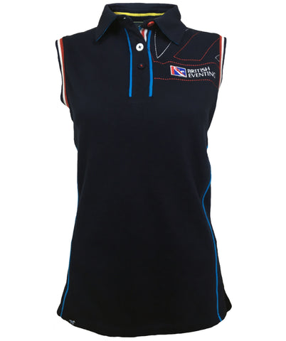 British Eventing Women's Sleeveless Polo Shirt