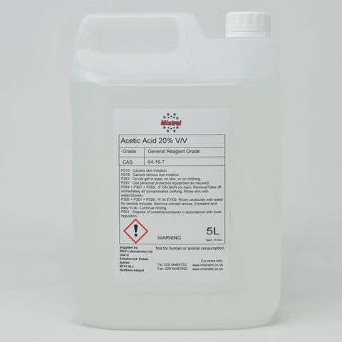 Acetic Acid 20% v/v - Ethanoic acid