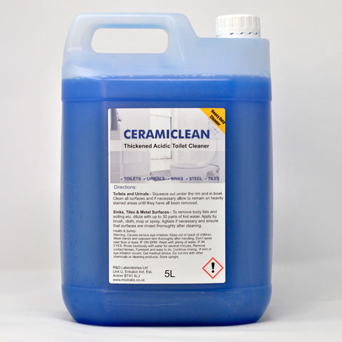 Ceramiclean Thickened Acidic Cleaner & Descaler - Toilets, Tiles, Stainless steel