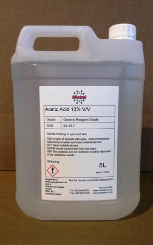 Acetic Acid 10% v/v Ethanoic acid