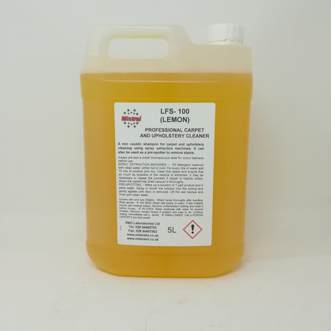LFS 100 Lemon - Professional Low Foam Carpet and Upholstery Cleaner