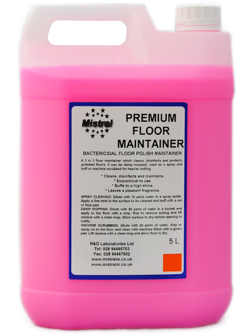 Floor Cleaner & Maintainer with Wax - Premium Maintain Pink