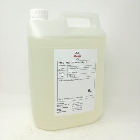 Propylene Glycol / MPG  - Coolant, Antifreeze, De-icer, Heat transfer fluid